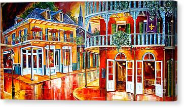 Lamp Post Canvas Print - Divine New Orleans by Diane Millsap
