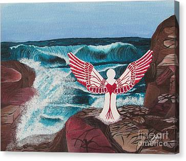 Canvas Print featuring the painting Divine Power by Cheryl Bailey
