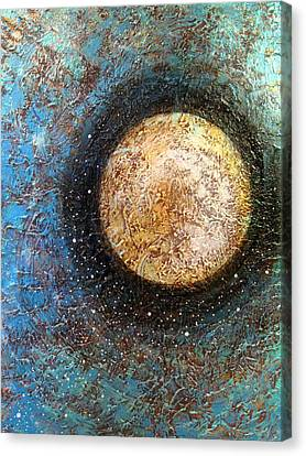 Moon Canvas Print - Divine Solitude by Sharon Cummings