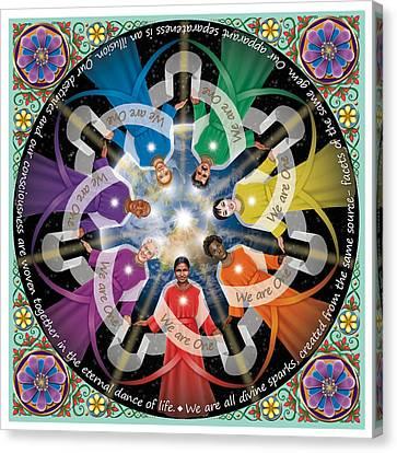 Divine Spark Mandala Canvas Print by Tania Crossingham