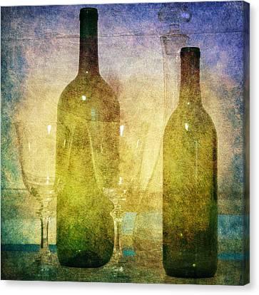 Divine Wine Canvas Print by Judy Hall-Folde