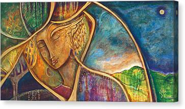 Sacred Artwork Canvas Print - Divine Wisdom by Shiloh Sophia McCloud