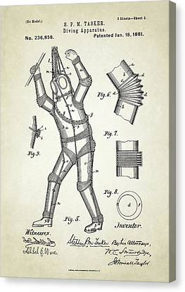 Diving Apparatus Patent Canvas Print