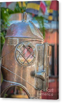 Diving Helmet Key West - Hdr Style Canvas Print by Ian Monk