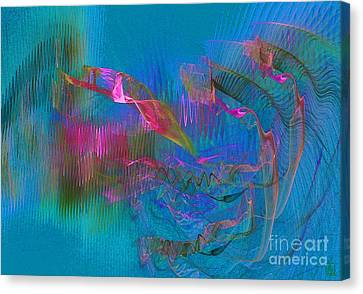 Diving Canvas Print by Jeanne Liander