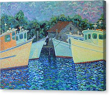 Divisionistic Shrimp Boats Canvas Print