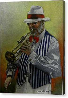 Dixie Music Man Canvas Print by Sandra Sengstock-Miller