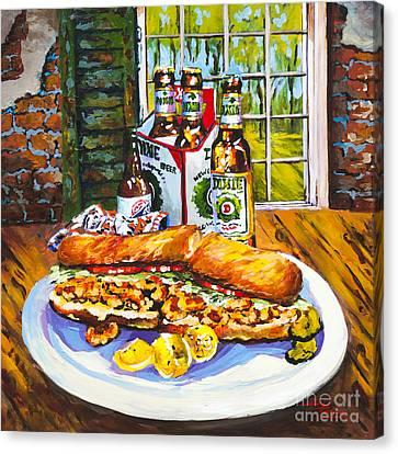 Zapps Canvas Print - Dixie Po'boy by Dianne Parks