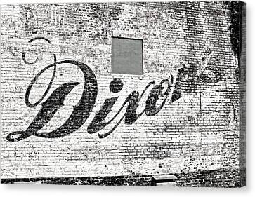 Canvas Print featuring the photograph Dixon's Wall Sign by Andy Crawford