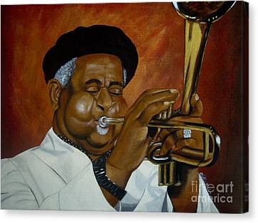 Dizzie Gillespie In Color Canvas Print