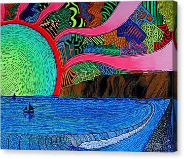 Dizzy Dana Point Canvas Print by Sam Bernal