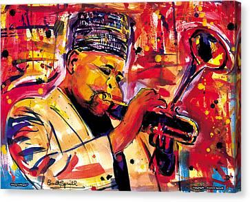 Dizzy Gillespie Canvas Print by Everett Spruill