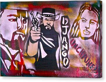 Django Blood Red Canvas Print by Tony B Conscious