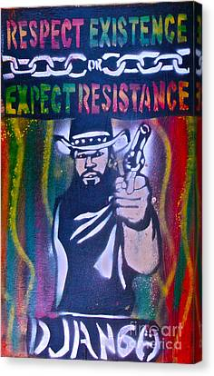 Django Rasta Resistance Canvas Print by Tony B Conscious