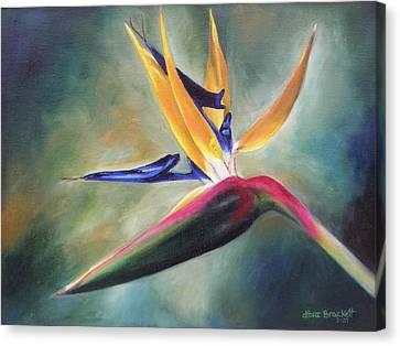 Canvas Print featuring the painting Dj's Flower by Lori Brackett