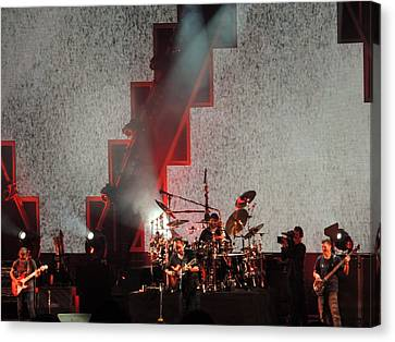 Canvas Print featuring the photograph Dmb Members by Aaron Martens
