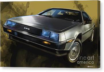 Dmc Sports Car Canvas Print by Uli Gonzalez