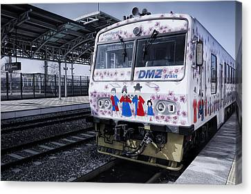 Dmz Train Canvas Print by Joan Carroll