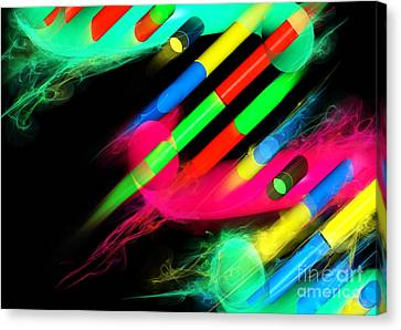 Canvas Print featuring the digital art Dna Dreaming 8 by Russell Kightley