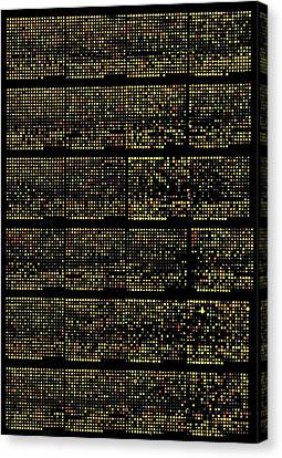 Dna Microarrays Canvas Print