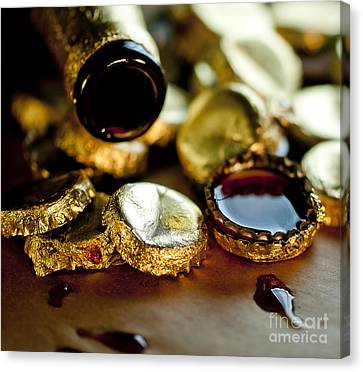 Do Not Cry Over Spilt Beer Canvas Print by Wilma  Birdwell