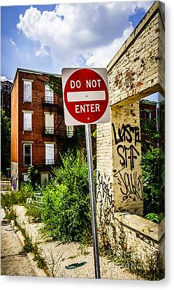 Do Not Enter Sign At Glencoe Auburn Place Picture Canvas Print
