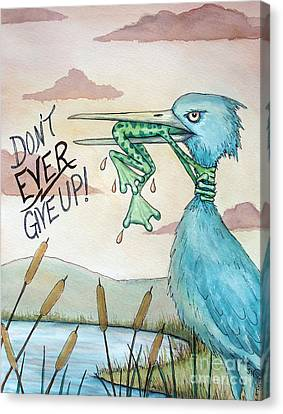 Cattail Canvas Print - Do Not Ever Give Up by Joey Nash