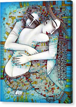Figurative Canvas Print - Do Not Leave Me by Albena Vatcheva