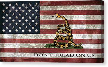 Do Not Tread On Us Flag Canvas Print by Daniel Hagerman