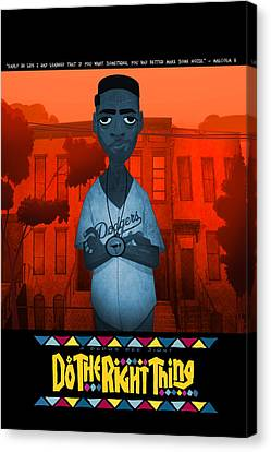 Do The Right Thing 2 Canvas Print by Nelson Dedos Garcia
