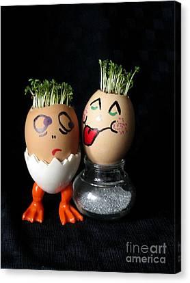 Do You Lick Me? Easter Eggmen Series Canvas Print
