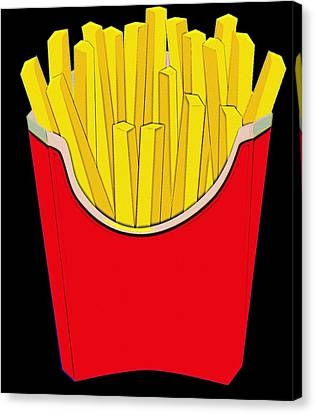 Do You Want Fries With That Canvas Print by Florian Rodarte