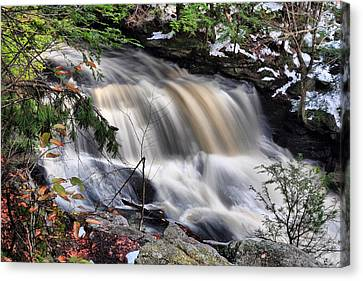 Canvas Print featuring the photograph Doane's Lower Falls In Central Mass. by Mitchell R Grosky