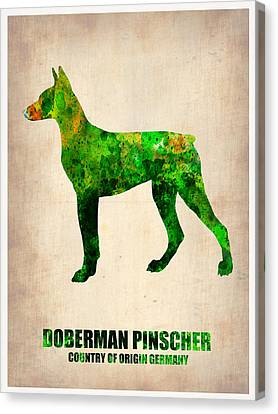 Doberman Pinscher Poster Canvas Print by Naxart Studio