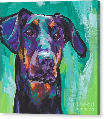 Dobie Love Canvas Print