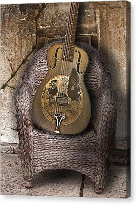 Dobro Guitar Canvas Print by Larry Butterworth