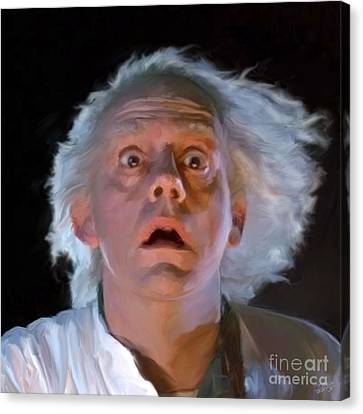 Doc Brown Canvas Print by Paul Tagliamonte