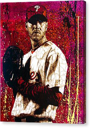 Doc Halladay Canvas Print by Bobby Zeik