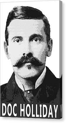 Doc Holliday Of The Old West Canvas Print by Daniel Hagerman