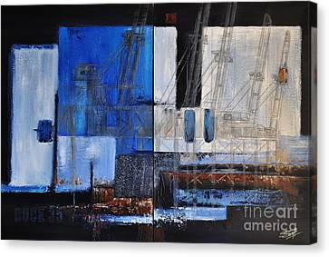 Dock 35 Canvas Print by Sallie-Anne Swift