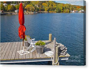 Dock By The Bay Canvas Print by William Norton