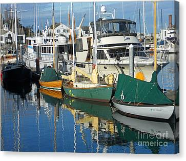 Dock Of The Bay Canvas Print by Lauren Leigh Hunter Fine Art Photography