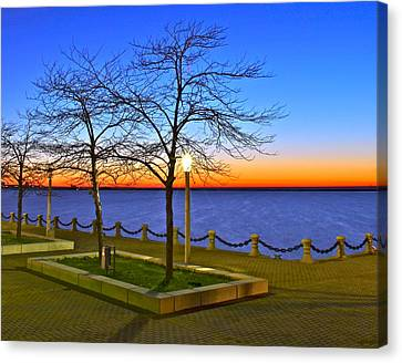 Dock Of The Bay Canvas Print by Frozen in Time Fine Art Photography