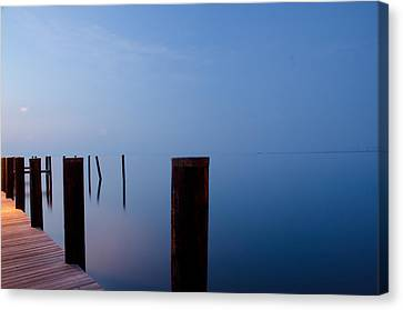 Dock Of The Morning Canvas Print by Gary Wightman