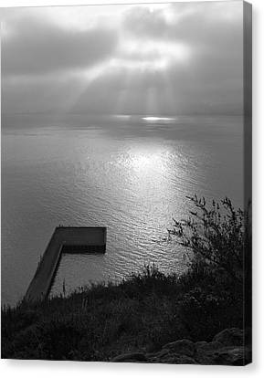 Canvas Print featuring the photograph Dock On San Francisco Bay by Scott Rackers