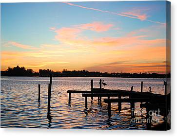 Dock On The Bay Canvas Print by Margie Amberge