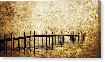 Dock Canvas Print by Skip Nall
