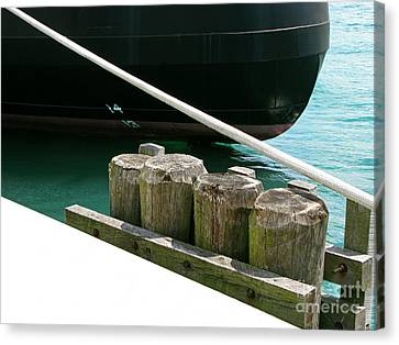 Docked Canvas Print by Ann Horn