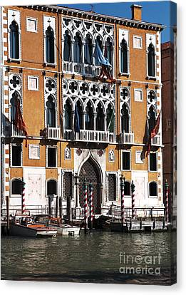 Docked In Venice Canvas Print