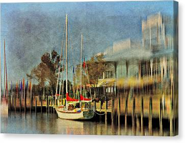 Docked Canvas Print by Kathy Jennings